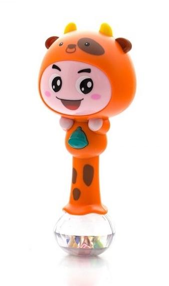 Euro Baby Edukační hračka - chrastítko s melodií - ZODIAK - oranžový
