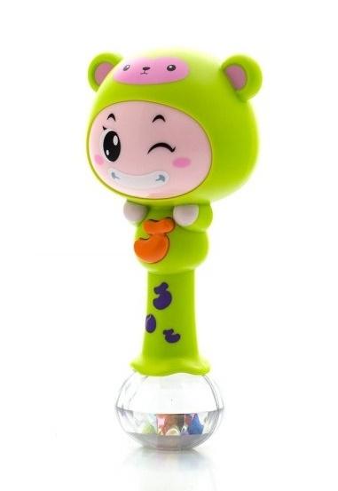 Euro Baby Edukační hračka - chrastítko s melodií - ZODIAK - zelený