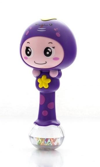 Euro Baby Edukační hračka - chrastítko s melodií - ZODIAK - fialový