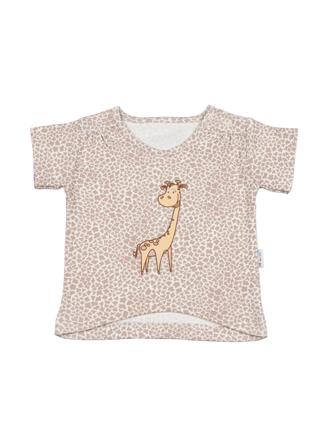 Halenka/tričko kr. rukáv - Žirafka, Velikost: 98 (24-36m)