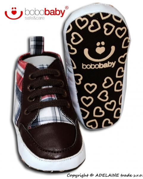 Capačky/botičky BOBO BABY - košilový vzor s hvězdičkou