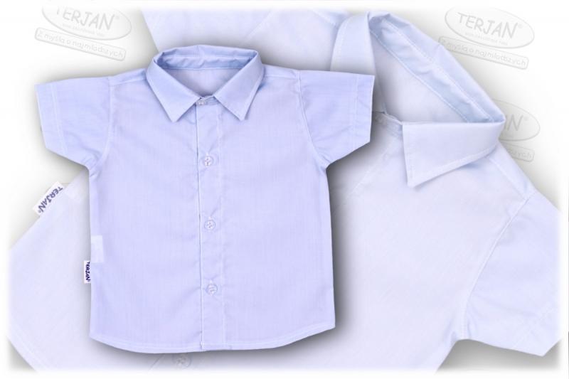 Dětská chlapecká košile krátký rukáv - modrá