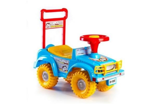 Odrážedlo auto modré 53,5x48,3x26cm v krabici od 12 do 35 měsíců
