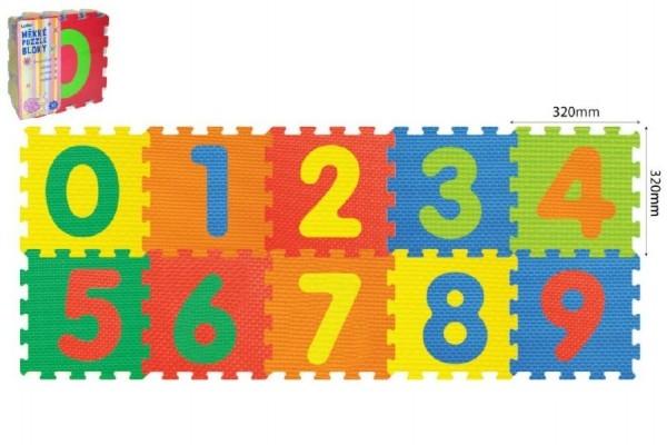 Pěnové puzzle Číslice 32x32x1cm 10ks v sáčku 10m+
