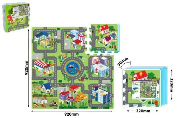 Pěnové puzzle Město 32x32x1cm 9ks v sáčku 10m+