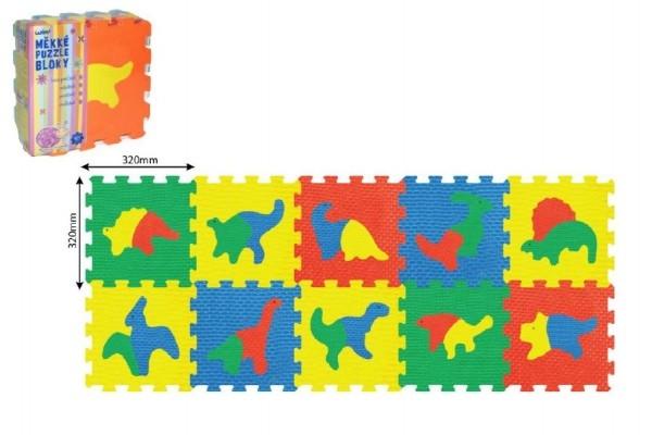 Pěnové puzzle Dinosauři 30x30cm 10ks v sáčku