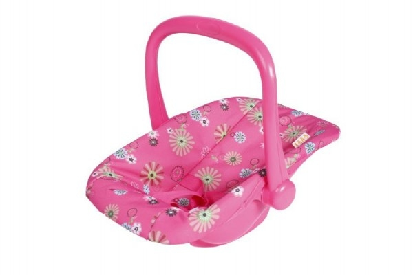 Nosítko autosedačka s látkovým potahem pro miminko/panenky plast 25x42x34cm v sáčku
