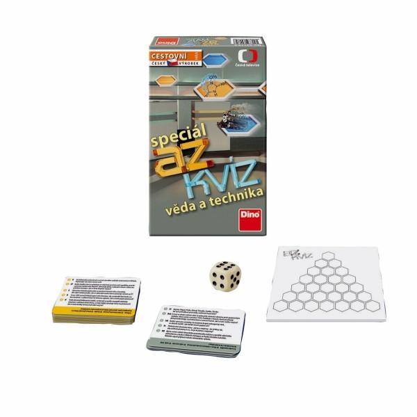 Teddies AZ kvíz Věda a technika společenská hra cestovní v krabici 11x18x3,5cm