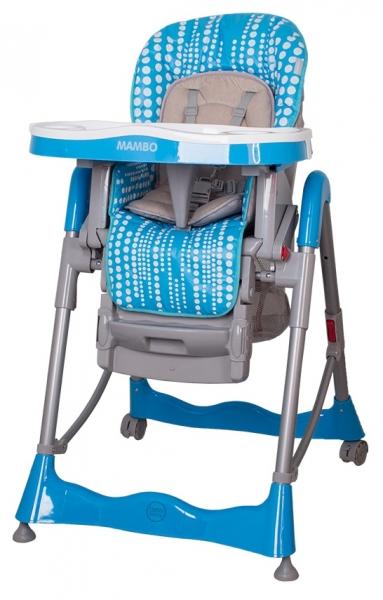 Jídelní židlička COTO BABY Mambo Turquoise (Židlička Mambo - barva tyrkys)