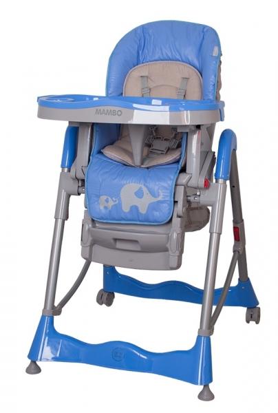 Jídelní židlička COTO BABY Mambo Blue - SLONÍCI (Židlička Mambo - barva modrá - SLONÍCÍ)