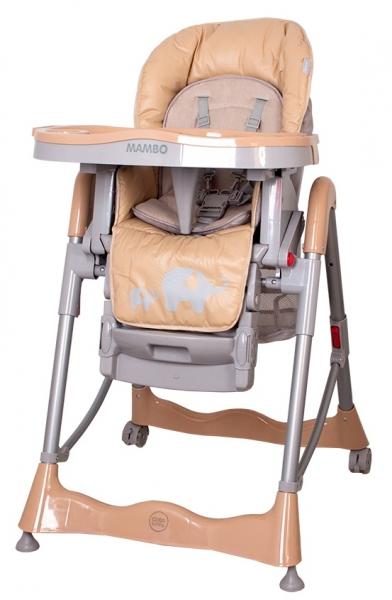 Jídelní židlička COTO BABY Mambo Beige - SLONÍCÍ (Židlička Mambo - barva béžová/hnědá - SLONÍCÍ)