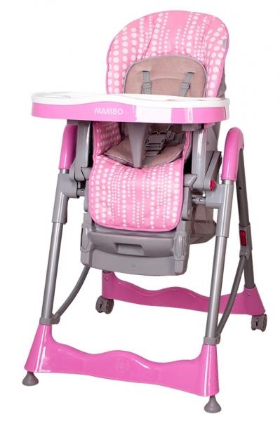 Jídelní židlička COTO BABY Mambo Pink (Židlička Mambo - barva růžová)