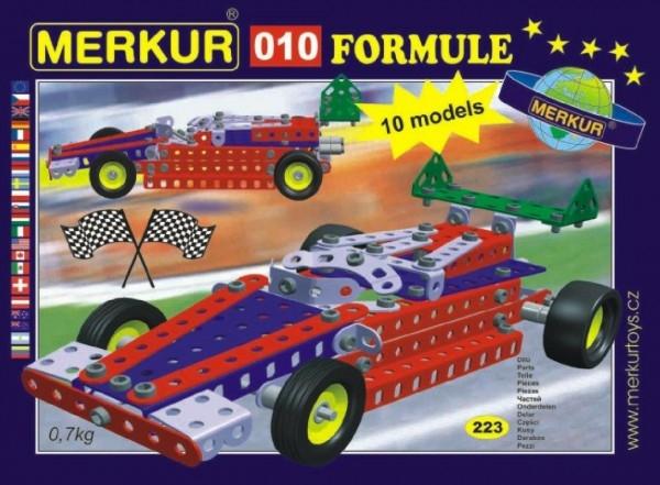 Fotografie Stavebnice MERKUR 010 Formule 10 modelů 223ks v krabici 26x18x5cm
