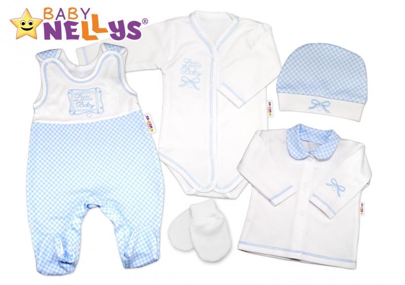Souprava do porodnice Baby Nellys ® - Little Baby - modrá kostička (Velikost: 62, Baby Nellys ®)