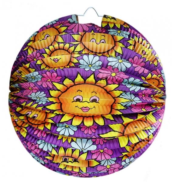 Lampion koule, slunečnice, 25 cm (1 ks)