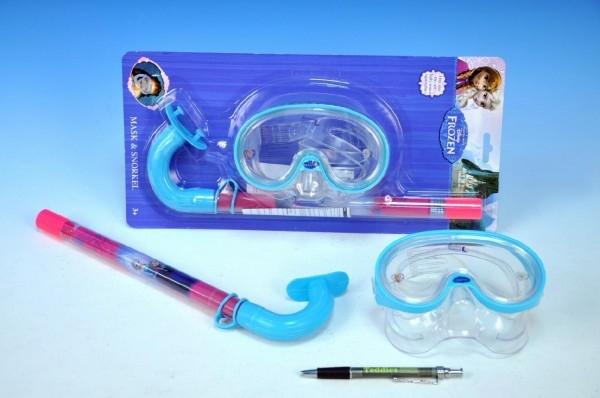 Brýle a šnorchl Ledové království/Frozen na kartě 3+
