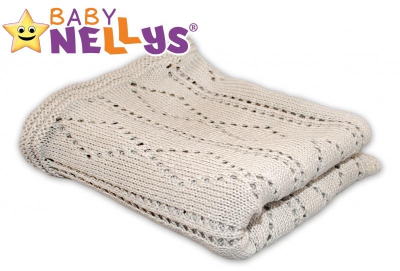 Háčkovaná dečka Baby Nellys ® - béžová