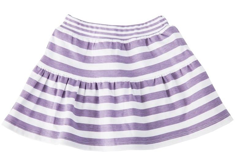Suknička Kytička - fialový proužek, VÝPRODEJ