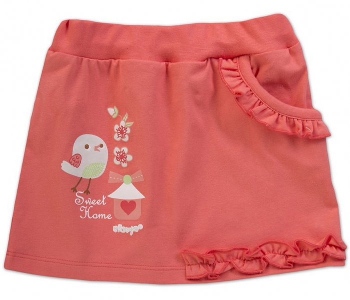 Suknička Little Bird - korálová, VÝPRODEJ