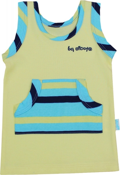 Košilka na ramínko -  LVÍČEK, žlutá - VÝPRODEJ, Velikost: 98 (24-36m)
