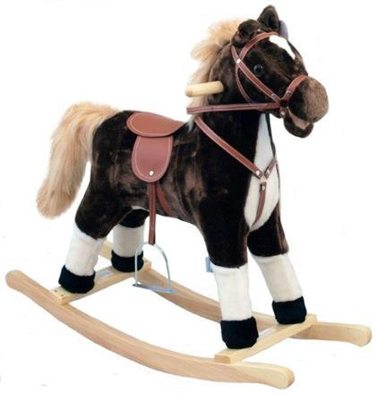 Houpací koník BABY MIX - tm. hnědý