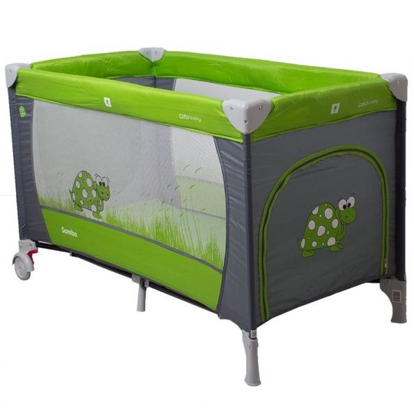 Cestovní postýlka Samba 2019 Coto Baby - šedá/zelená