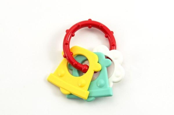 Kousátko tvary plast 8cm asst v sáčku 0m+