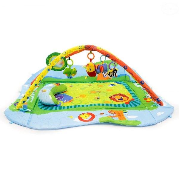 Hrací deka/ohrádka Zvířátka (EBJJ8835, barva: zelená/modrá)