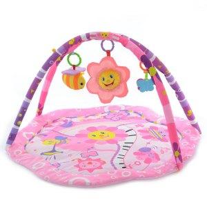 Hrací deka, podložka Sluníčko - růžová