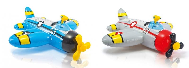 Nafukovací hopsadlo letadlo 132 cm x 130 cm 2 druhy