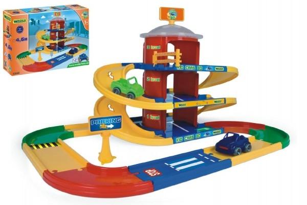 Garáž Kid cars 3D parkoviště 2 patra plast 4,6m v krabici 59x40x15cm Wader