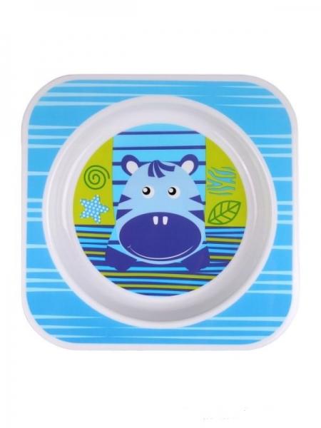 Dětská miska AKUKU Zebra - modrá