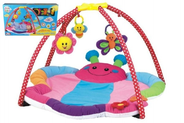 Hrací podložka/Hrazda pro děti s chrastítky plyš/plast v krabici 81x54,6x78,7cm 0m+