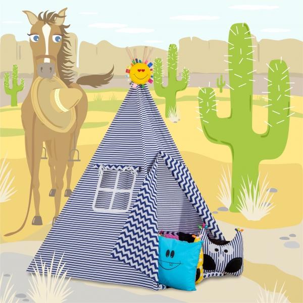 Stan pro děti TIPI - bez podložky (Stan pro děti TIPI vzor: 211242, týpí, tepee, teepee)