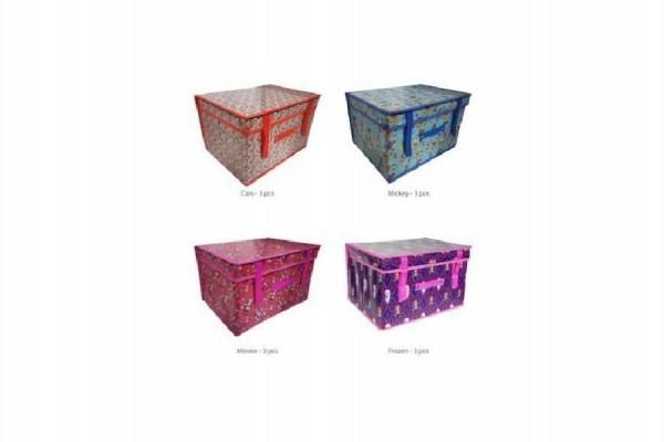 Koš/Krabice na hračky Disney 30x40x25cm asst 4 druhy v sáčku (1 ks, mix druhů dodání dle externího skladu)