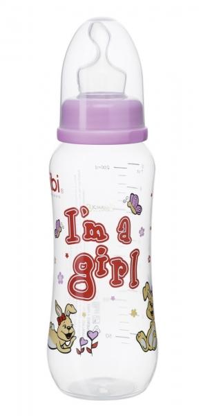Bibi Kojenecká láhev I´m a girl 250 ml