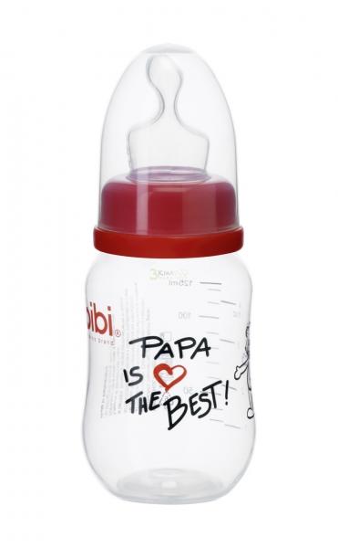 Bibi Kojenecká láhev Papa is the best 125 ml
