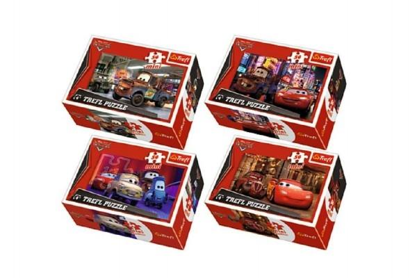 Minipuzzle Cars 2/Disney 54dílků asst 4 druhy v krabičce 40ks v boxu