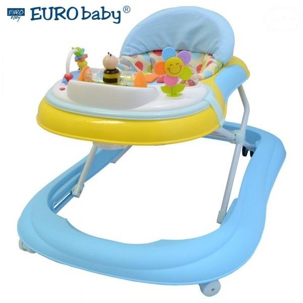 Euro Baby Multifunkční chodítko - modré/žluté, Ce19