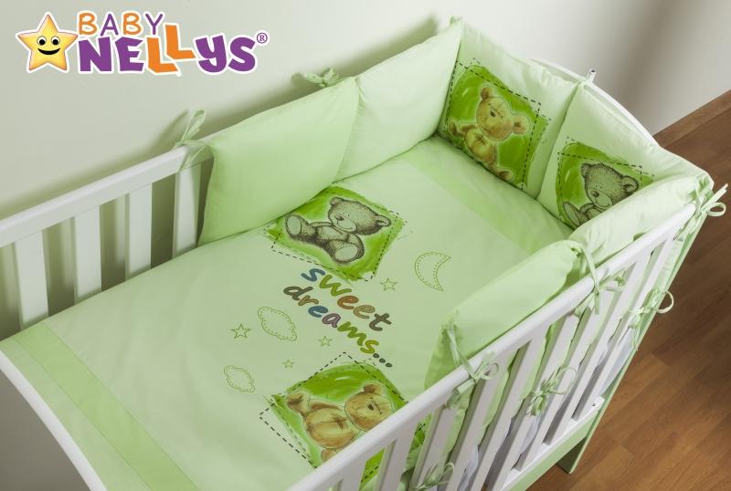 Povlečení s polštářkovým mantinelem Sweet Dreams by TEDDY - zelený