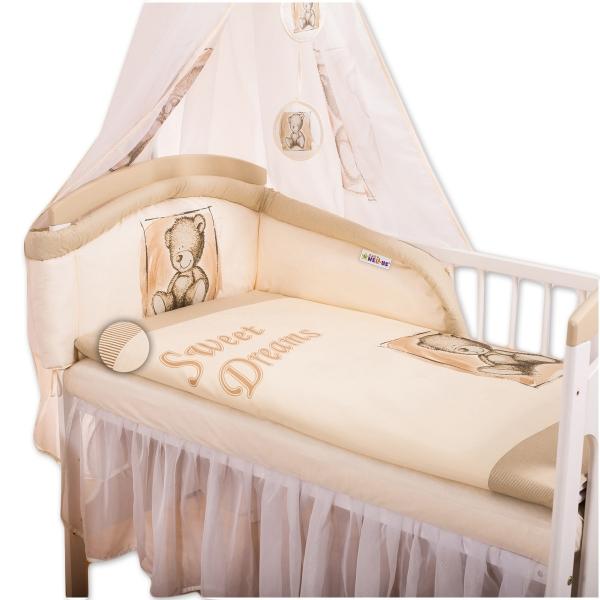 Baby Nellys Mantinel s povlečením Sweet Dreams by Teddy - piskový