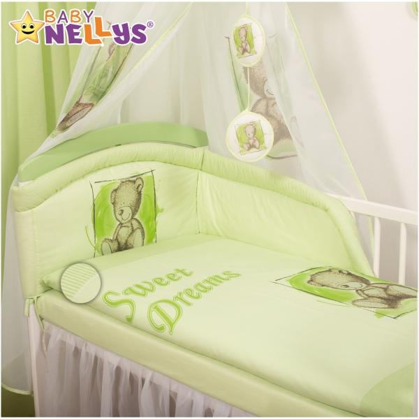 Baby Nellys Povlečení  Sweet Dreams by Teddy  - zelený