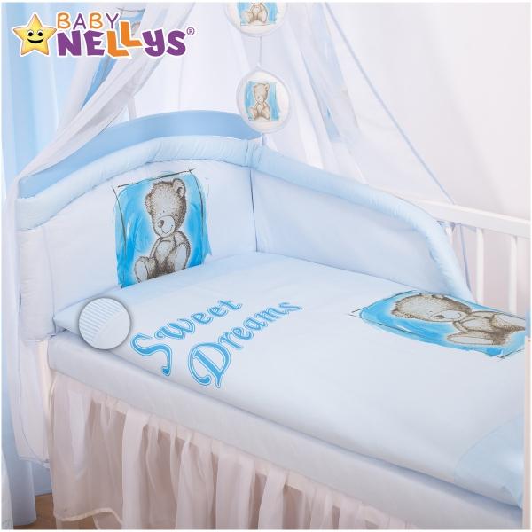 Povlečení Sweet Dreams by Teddy - modrý (rozměr povlečení 120x90cm, Baby Nellys)