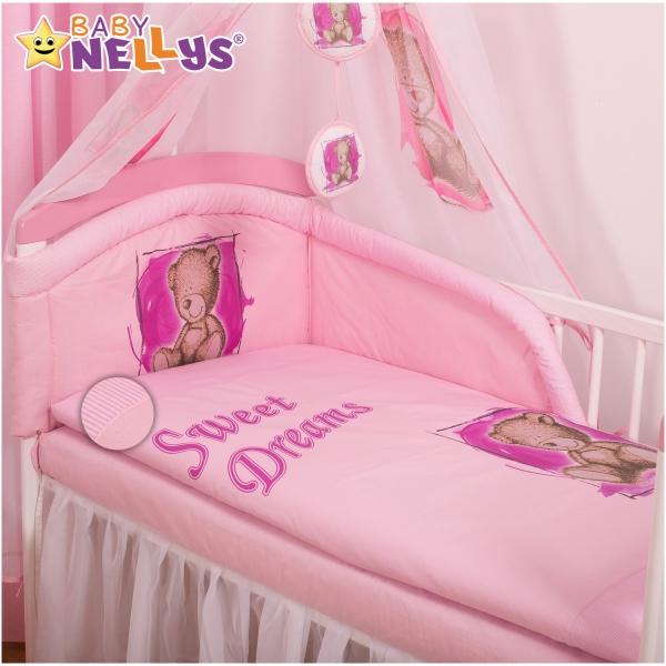 Povlečení Sweet Dreams by Teddy - růžový (rozměr povlečení 120x90cm, Baby Nellys)