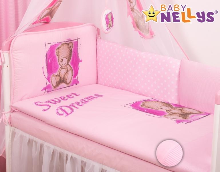 Mantinel 360cm s povlečením Sweet Dreams by Teddy - růžový