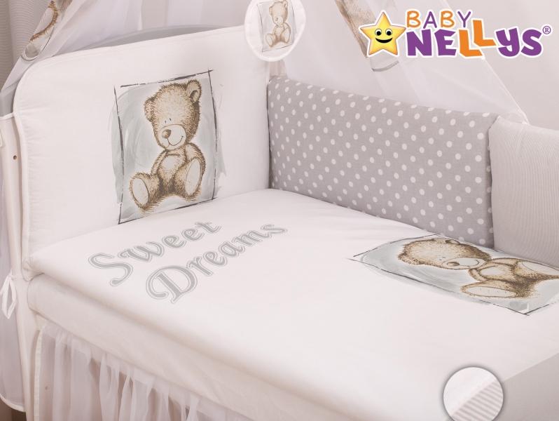 Baby Nellys Mantinel 360cm s povlečením Sweet Dreams by Teddy - šedý
