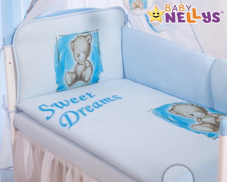 Baby Nellys Mantinel 360cm s povlečením Sweet Dreams by Teddy - modrý, Velikost: 135x100