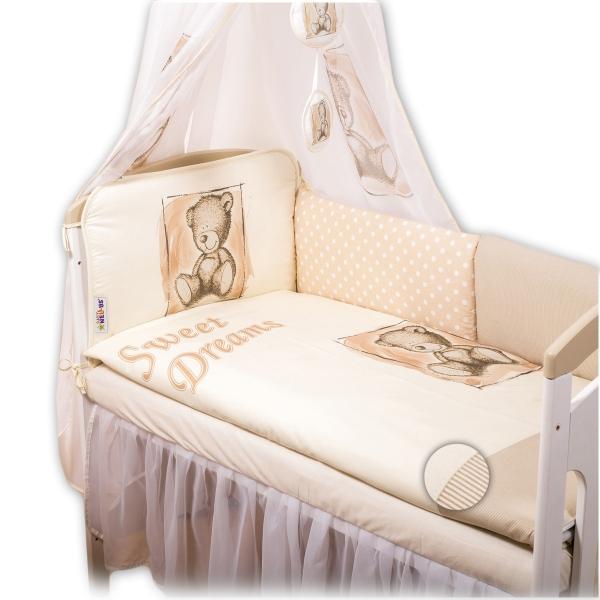 Mantinel 420cm s povlečením Sweet Dreams by Teddy - pískový