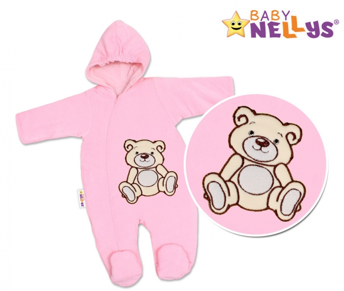 Kombinézka/overálek Teddy Bear, velikost: 74 - růžová
