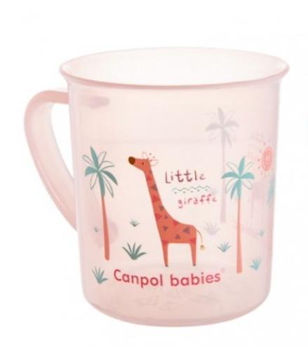 Hrneček Canpol Babies - průhledný/růžový - Žirafka